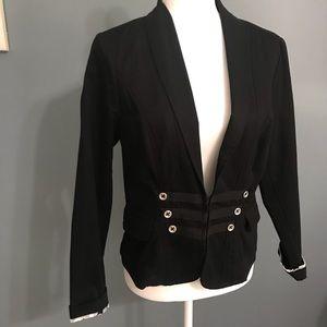 CAbi black military style blazer Size 6